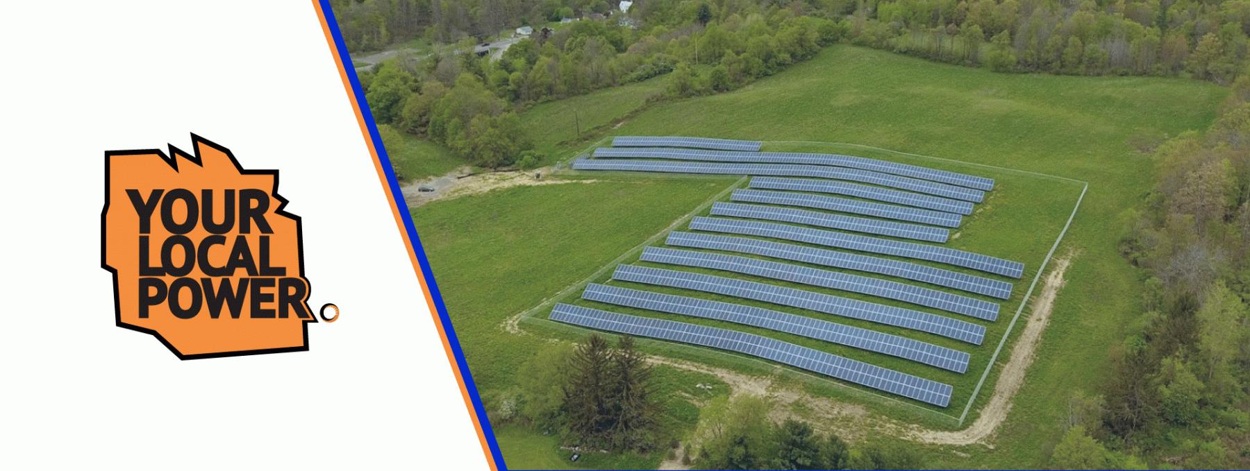 Community solar farm built by Renovus Solar
