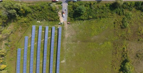 Community solar farm built by Renovus Solar