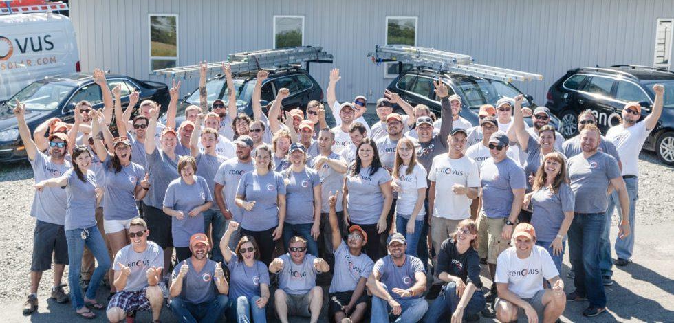 Renovus Solar in Ithaca the happy staff