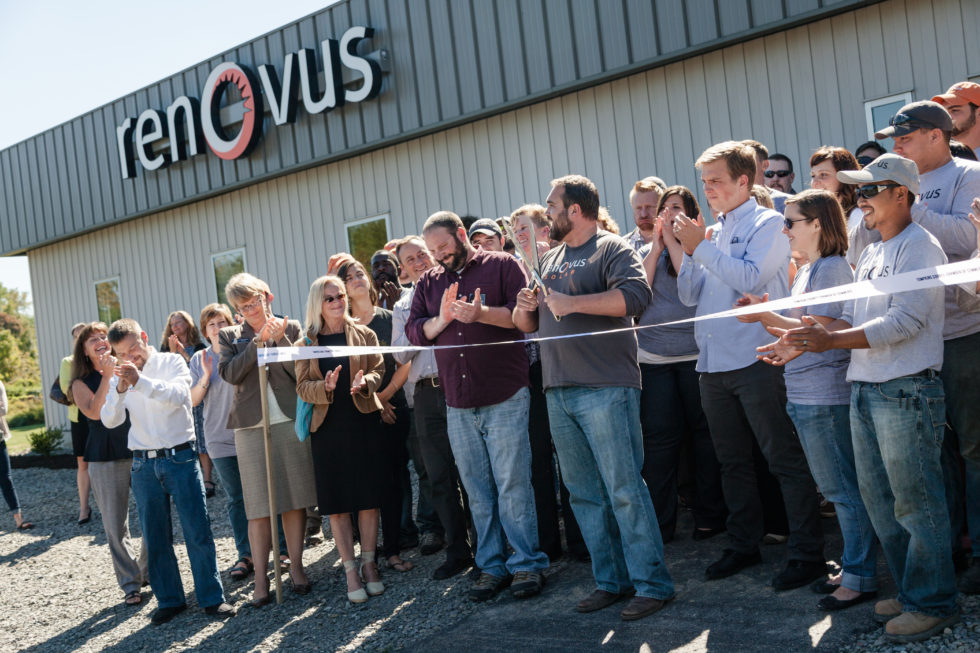 Renovus Solar in Ithaca the happy staff at the new campus