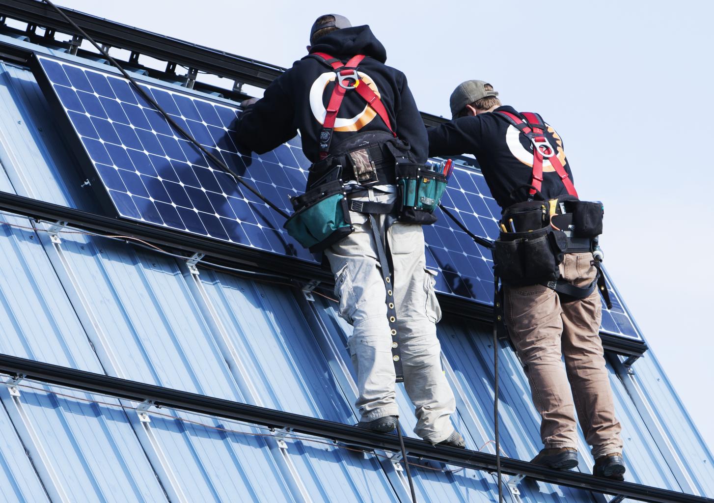 Renovus Solar roof solar panel installation
